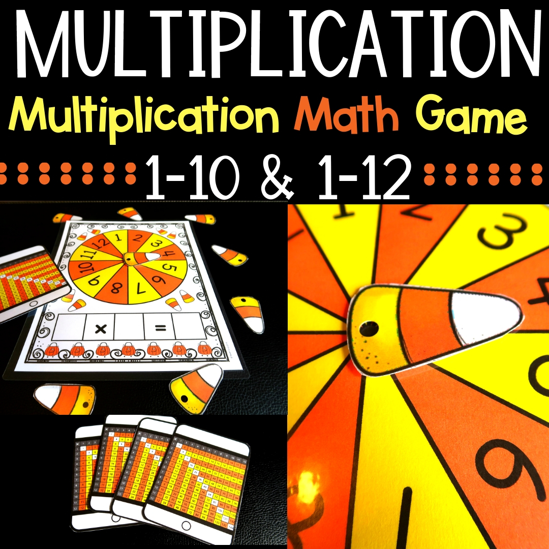Halloween Multiplication Games and Fall Multiplication Games