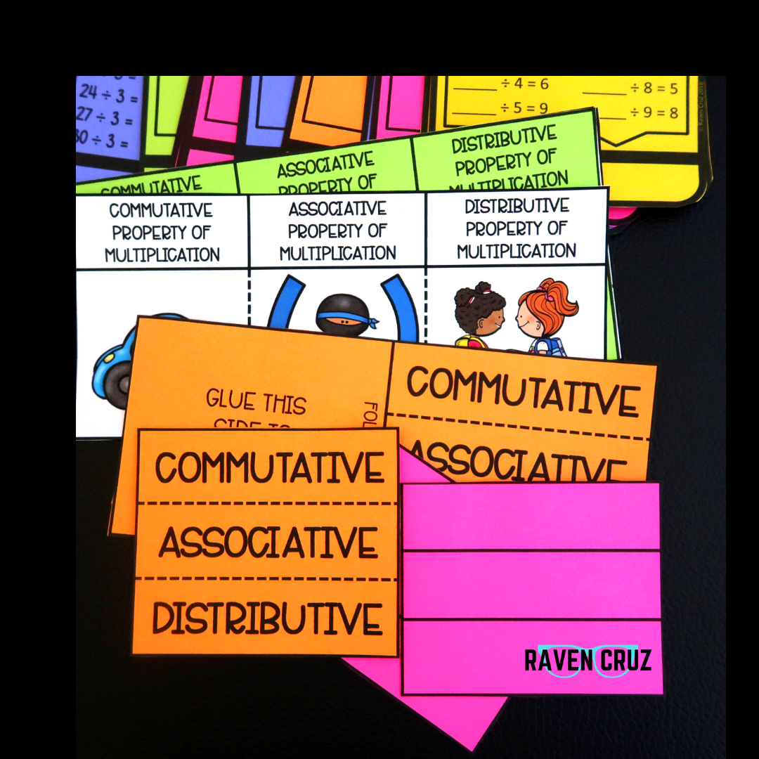 These operations and algebraic thinking task cards can also be used as interactive math notebooks