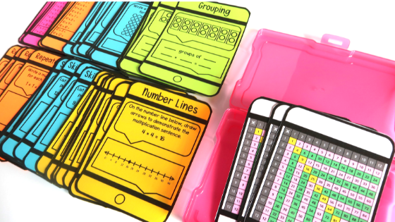 Use these task cards to introduce the 5 strategies of multiplication in your third grade math class. Aligns great with common core and other standards.