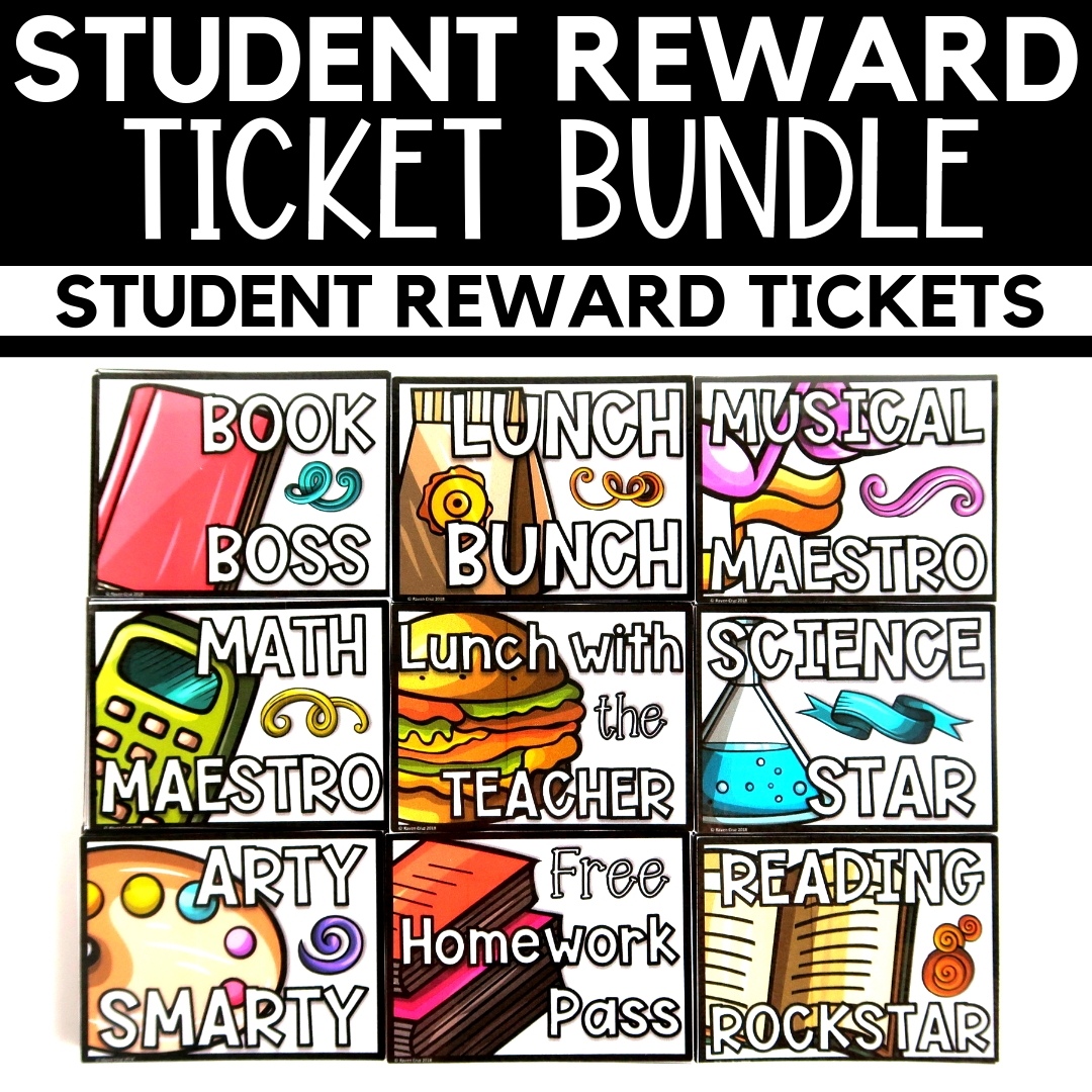 Grab the bundle of student rewards and save. There are 18 student rewards for your students.