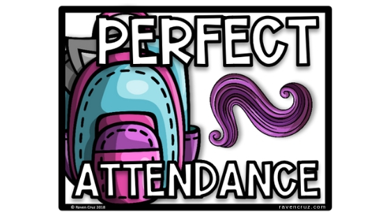 Grab the free perfect attendance award for your end-of-year awards.