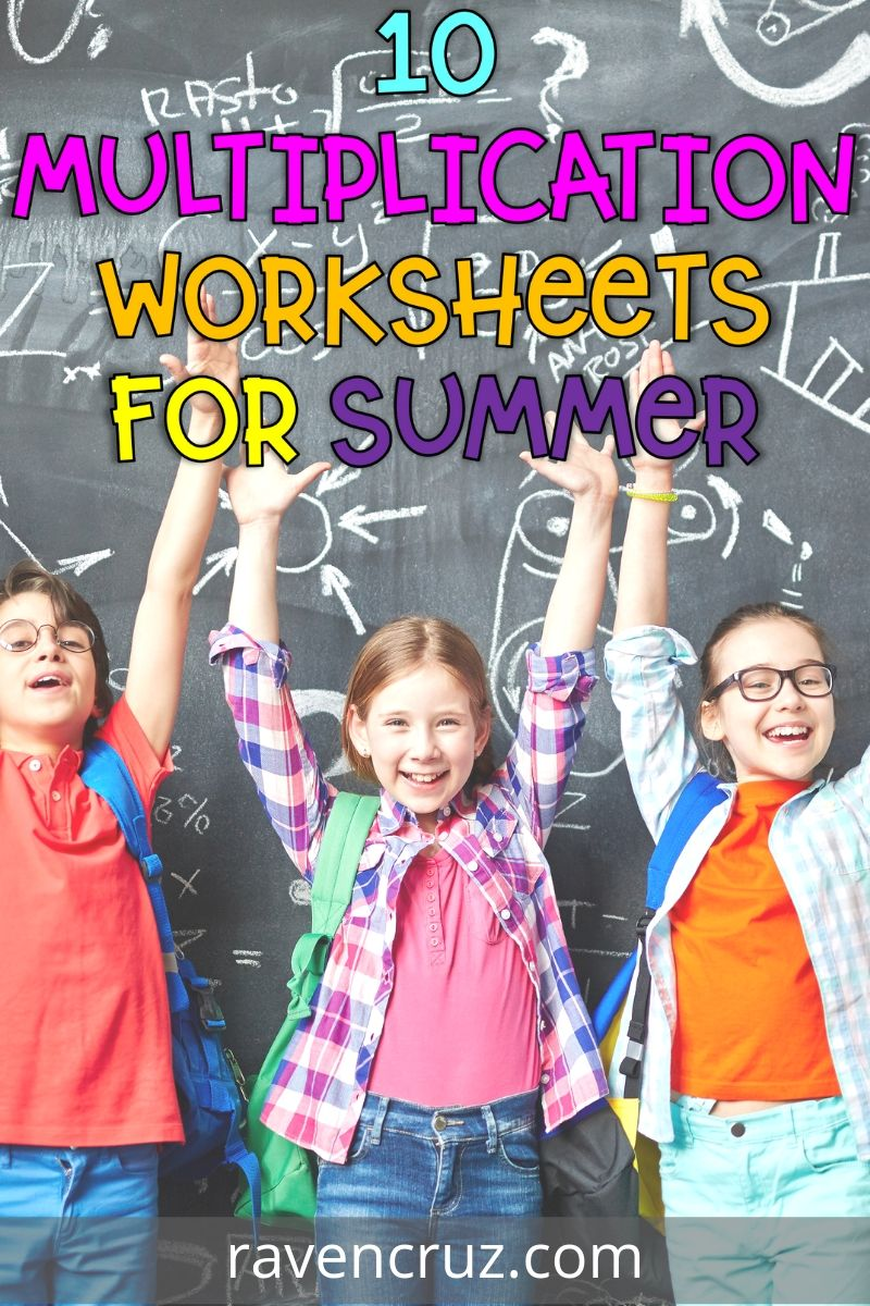 These multiplication worksheets are perfect for 3rd-graders to practice fact fluency over the summer.