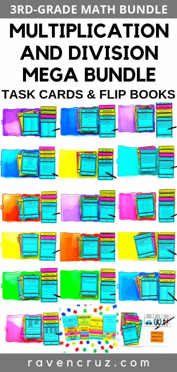 multiplication task cards for third grade