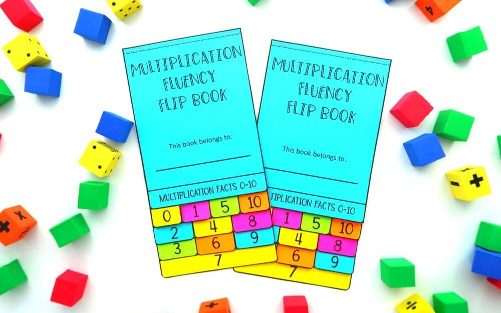 Multiplication facts flip book for elementary math.