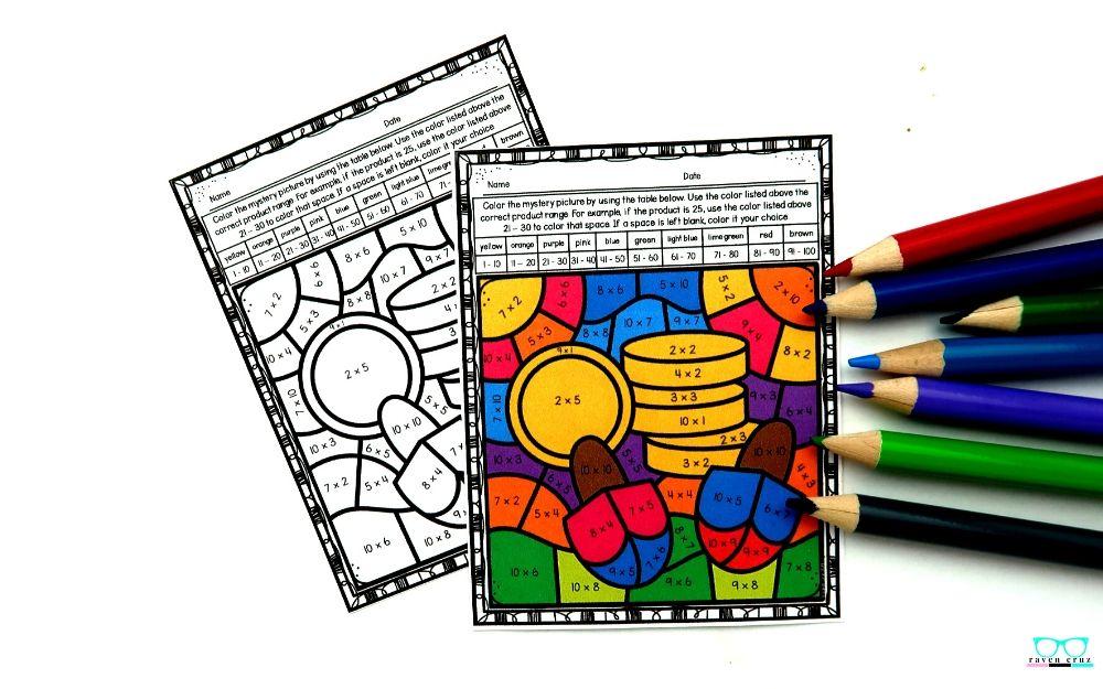 Multiplication Hanukkah activities for math.