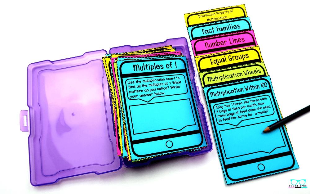 Task card freebie for Operations and Algebraic Thinking.