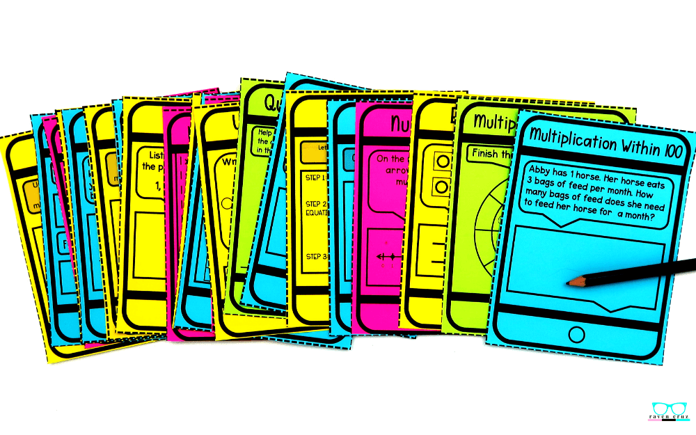 free task cards for multiplication and division