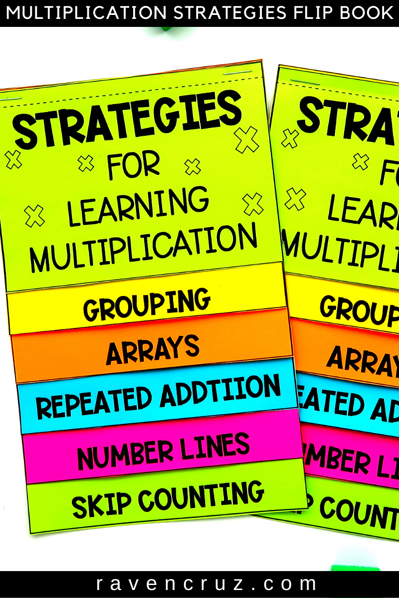 Multiplication Strategies flip book for 3rd-grade.