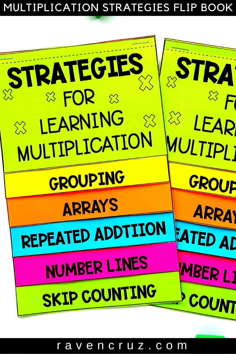 Multiplication Strategies flip book for 3rd-grade.