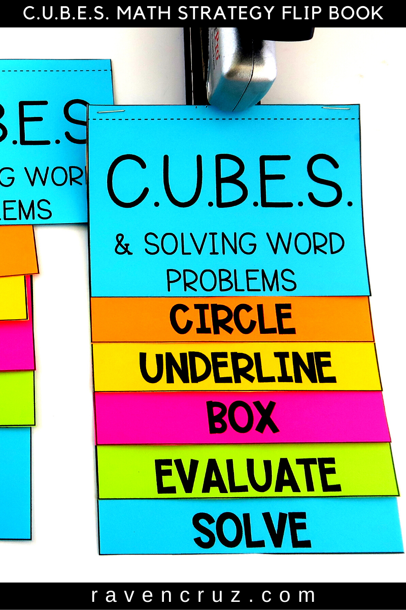 The ONE Ultimate CUBES Math Strategy Flip Book