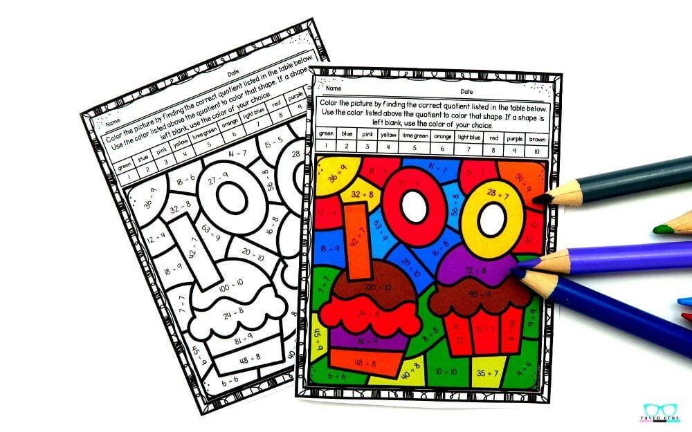 100 days of school activities for 3rd grade.