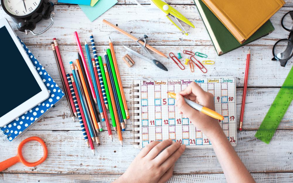 creating a homeschool calendar