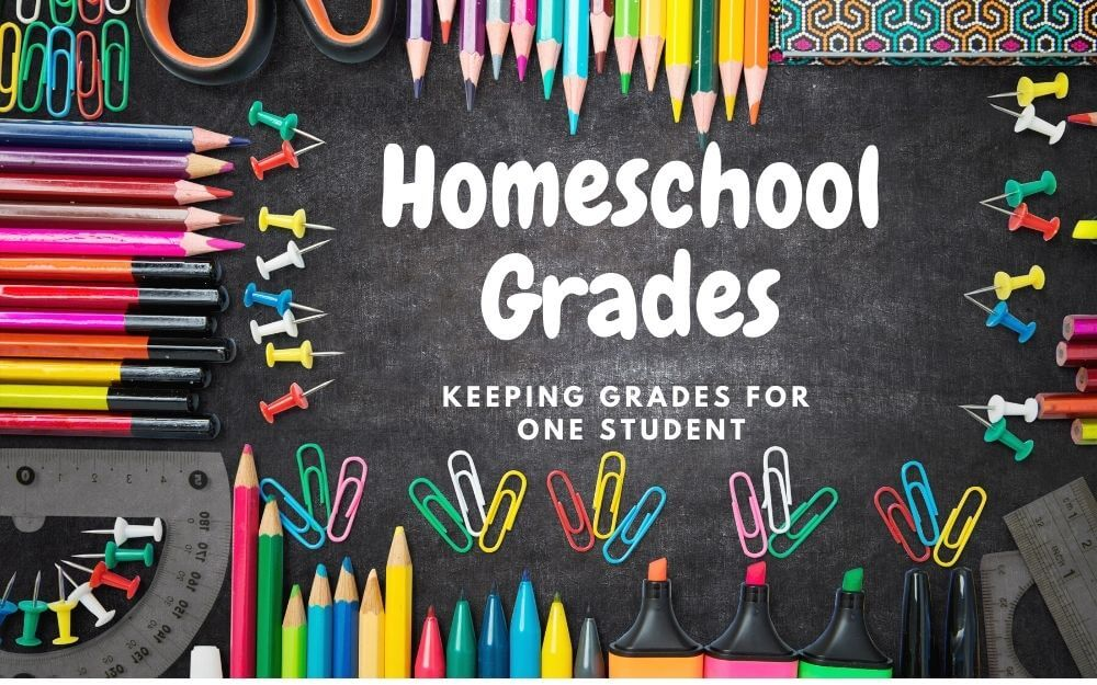 How to keep grades in homeschool for a single student.