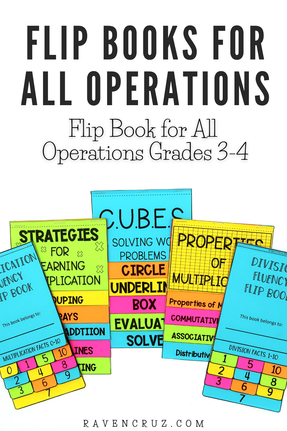 3rd-grade math flip books