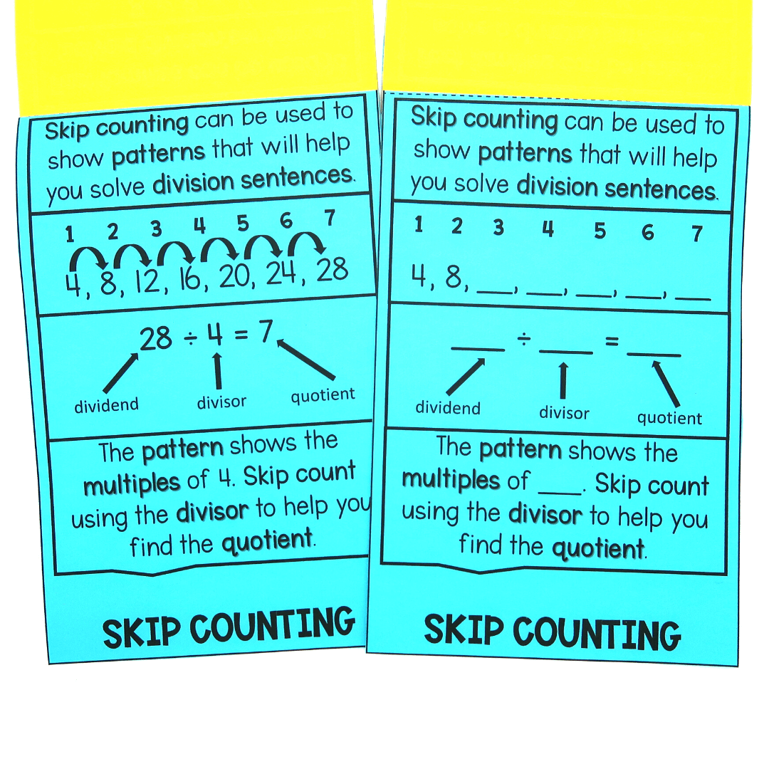 skip counting division strategies